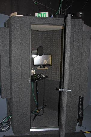 Diana's Iso booth backstage on the Arsenio Hall set, located at Sunset Bronson Studios, Hollywood