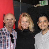 Justin Case, Diana Steele and Carlos Huizar, Line Producer for The Arsenio Hall Show